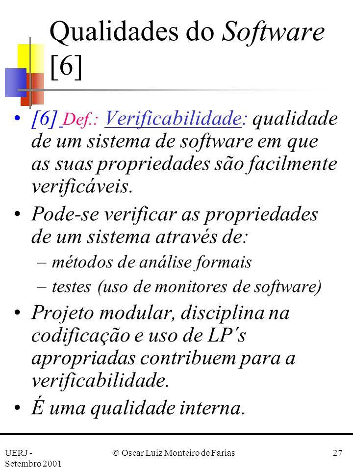 Qualidades do Software [6]